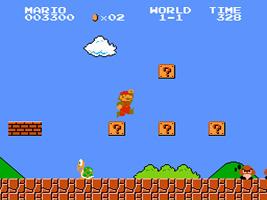 Mario jumps